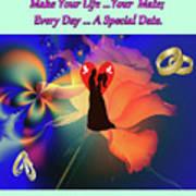 Brian Exton Orange Rose  Bigstock 164301632  2991949  12779828 Poster