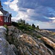 Brick Bell House At Pemaquid Point Light Poster