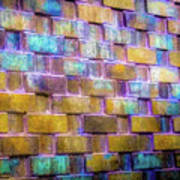 Brick Wall In Abstract 499 S Poster