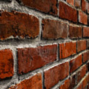 Brick Wall With Perspective Poster