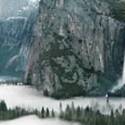 Bridalveil  Falls In Winter Poster