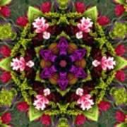 Bride's Maids Boquet Kaleidoscope Poster