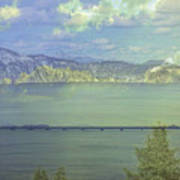Bridge Across The  Lake Poster