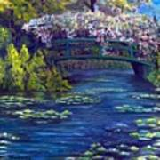 Bridge and water lillies Poster