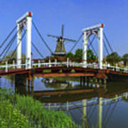 Bridge And Windmill Poster