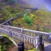 Bridge at Multnomah Falls Poster