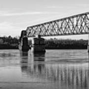Bridge In Black And White Poster