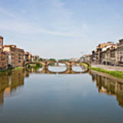 Bridge Over Arno River In Florence Italy Poster