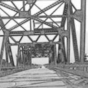 Bridge Over Mississippi Poster