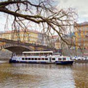 Bridge Over River Vltava Poster