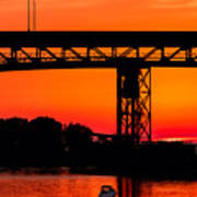 Bridge Over Sunset Poster