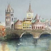 Bridge Over The Lake Poster