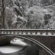 Bridges Of Multnomah Falls Poster
