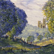 Bridlington Priory From Woldgate On The Hockney Trail Poster
