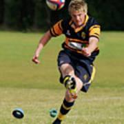 Bridlington Rufc Under 17's V Roundhegians Rufc Under 17's Poster by David  Hollingworth