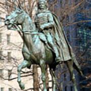 Brigadier General Casimir Pulaski Saved George Washington's Life Poster
