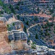 Bright Angel Trail @ Grand Canyon Poster