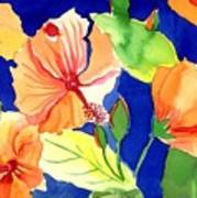 Bright Orange Flowers Poster