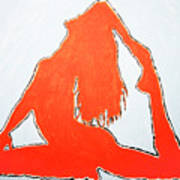 Scarlet Nude Yoga Girl Poster