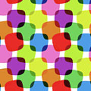 Bright Squares Poster
