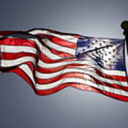 Bright Sun Highlights Old Glory Poster