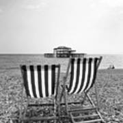Brighton Deck Chairs Poster