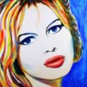 Brigitte Bardot Pop Art Portrait Poster