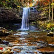 Brilliant Fall Waterfall At Cloudland Canyon Poster