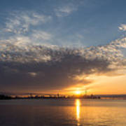 Brilliant Toronto Skyline Sunrise Over Lake Ontario Poster