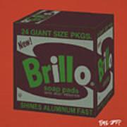 Brillo Box Colored 1 - Warhol Inspired Poster