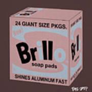 Brillo Box Colored 20 - Warhol Inspired Poster