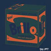 Brillo Box Colored 6 - Warhol Inspired Poster