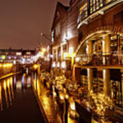 Brindleyplace At Night Poster