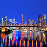 Brisbane In Late Evening Poster