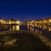 Bristol Docks By Night  Poster