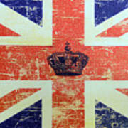 British Flag And Royal Crown Poster