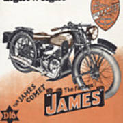 British James Comet Motorcycle  1948 Poster