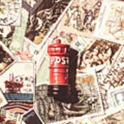 British Post Box Poster