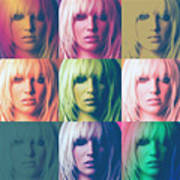 Britney Spears Pastel Warhol By Gbs Poster