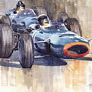 Brm P261 1965 Italian Gp Stewart Hill Poster