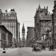 Broad Street Philadelphia 1905 Poster by Bill Cannon