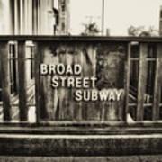 Broad Street Subway - Philadelphia Poster