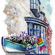 Broadies By The Sea In Staithes Poster