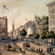 Broadway In The Nineteenth Century Poster by Augustus Kollner