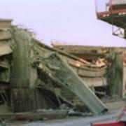 Broken Freeway Oakland Earthquake Poster