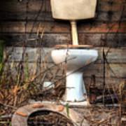 Broken Toilet Poster by Carlos Caetano