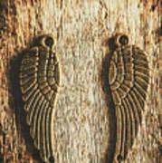 Bronze Angel Wings Poster