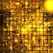 Bronze Solar Cubes Poster