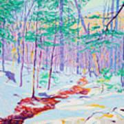 Brook In Winter, 1914 Poster