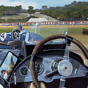 Brooklands From The Hot Seat  Poster by Richard Wheatland